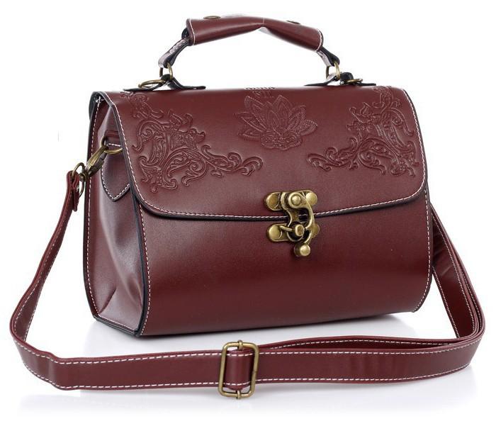 Винтажная женская сумка с цветочным резным узором de77ec0f3b004