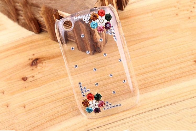 Прозрачный чехол с алмазами для Blackberry Curve 9220
