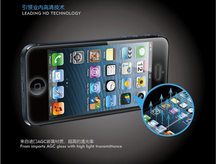 Стеклянная защита для iPhone 5S