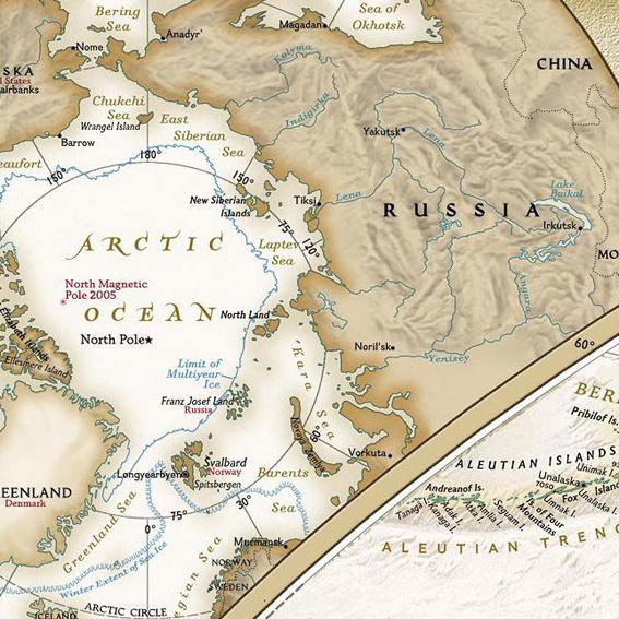 Карта мира, 130*90 см
