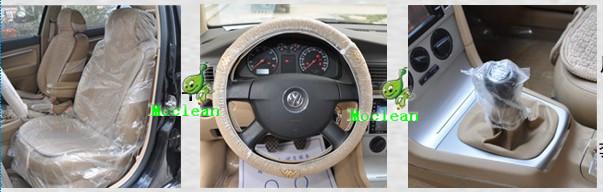 Набор одноразовых чехлов для автомобиля: для сидений, руля, ручки КПП