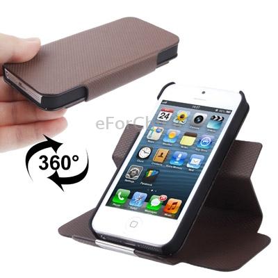 Защитный чехол с магнитной застежкой из кожи для iPhone 5