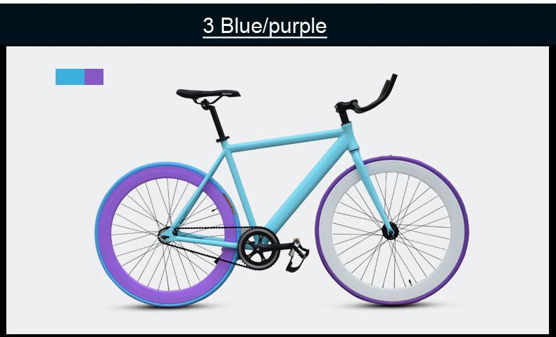 Велосипед гоночный с фиксированной передачей, алюминиевая рама
