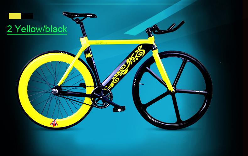 Велосипед гоночный с фиксированной передачей, пять спиц, усиленная рама