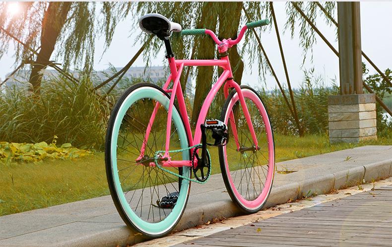 Велосипед гоночный с фиксированной передачей