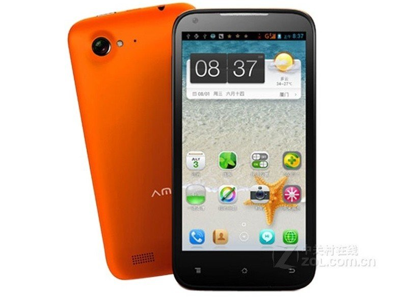 Amoi N820 - смартфон, Android 4.0.3, MTK6577 (1.2GHz), 4.5