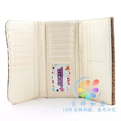 Женское портмоне с принтом газеты
