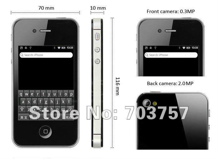 F88 - смартфон, Android 2.3.5, MTK6513, 3.2