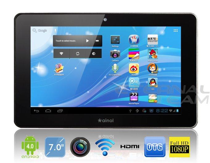 Ainol Novo 7 Elf 2/II - планшетный компьютер, Android 4.0.3, TFT LCD 7