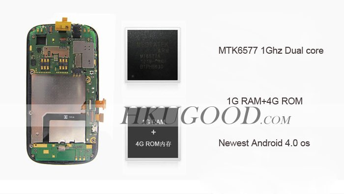Newman N1 - смартфон, Android 4.0.3, MTK6577 (1.2GHz), 4.3