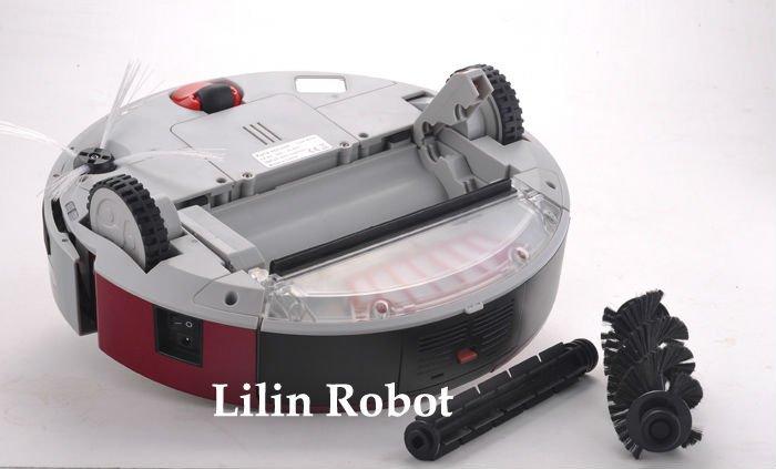 LL-A320 - робот-пылесос, жк-дисплей, график работы (красный цвет)