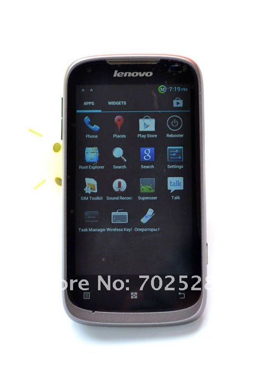 Lenovo A750 - смартфон, Android 4.0.3, MTK6575 (1GHz), 4