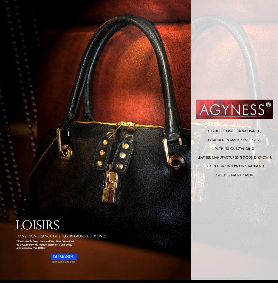 Дамские кожаные сумки AGYNESS из Франции