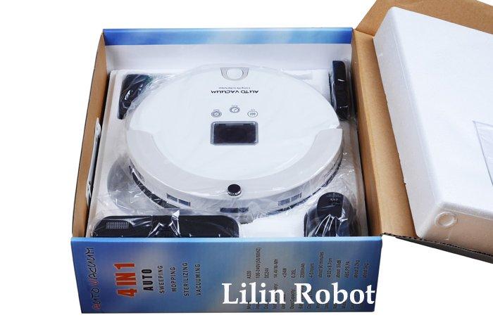 LL-A320 - робот-пылесос, жк-дисплей, график работы (белый цвет)