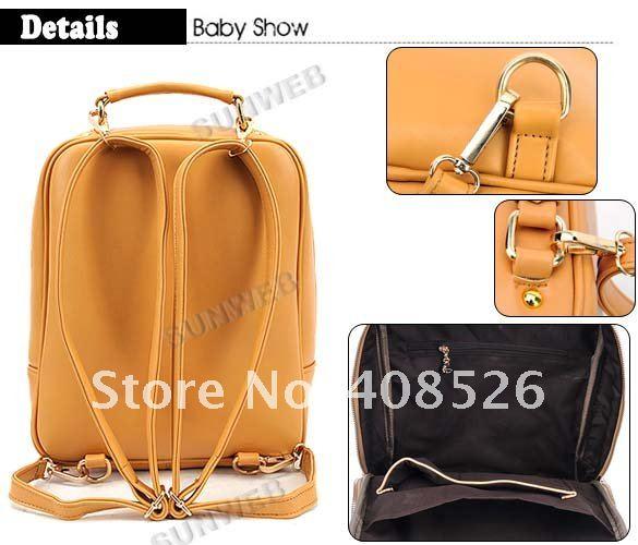 Модная сумочка-рюкзак, стиль ретро / повседневный / на плечо / на спину / в руки