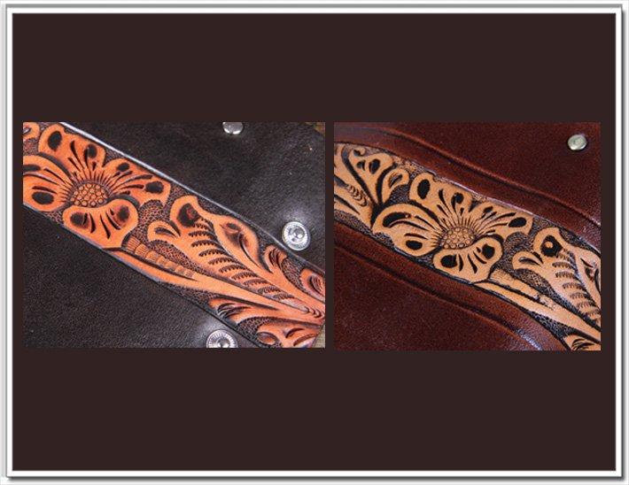 Кожаная ключница с оригинальным декором.