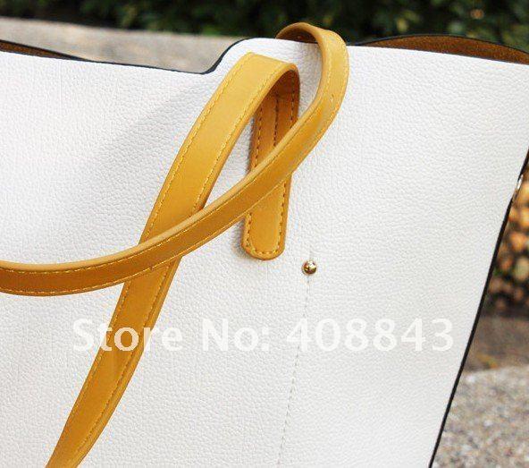 Двухцветные женские сумки из полиуретановой кожи