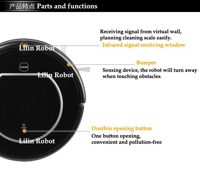 LL-306 - робот-пылесос, боковые щетки, сенсорный дисплей, виртуальная стена