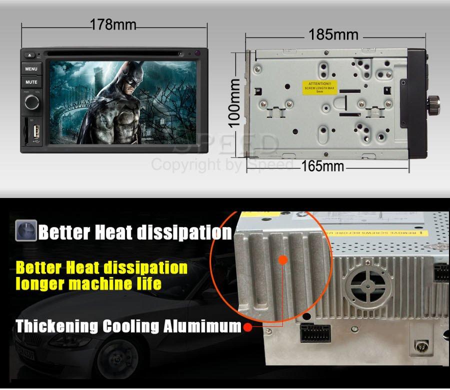 CO-6203H - автомобильная магнитола, 6.2