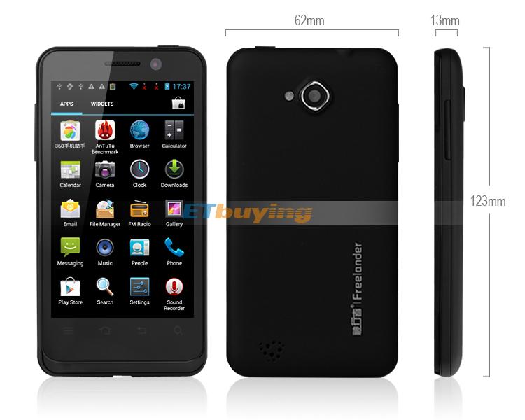 Freelander I10S - смартфон, Android 4.0.4, MTK6577 (2x1GHz), 4