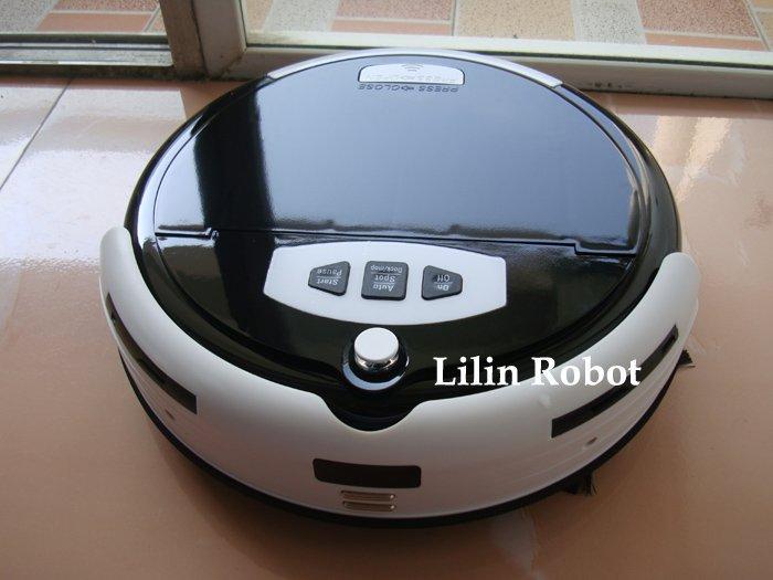 LL-309 - робот-пылесос, чистка и мытье полов, ароматизация, виртуальная стена (черный цвет)