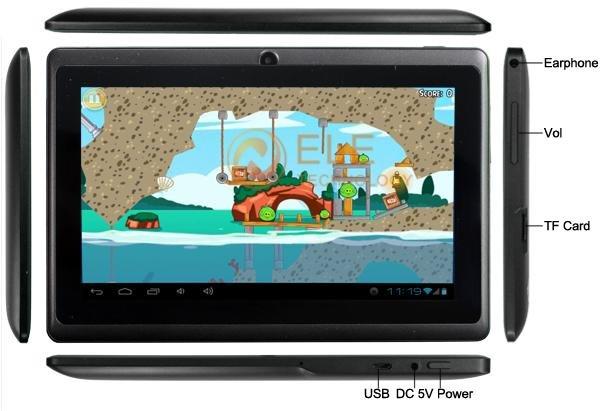 ELE A13 - планшетный компьютер, Android 4.0.3, 7