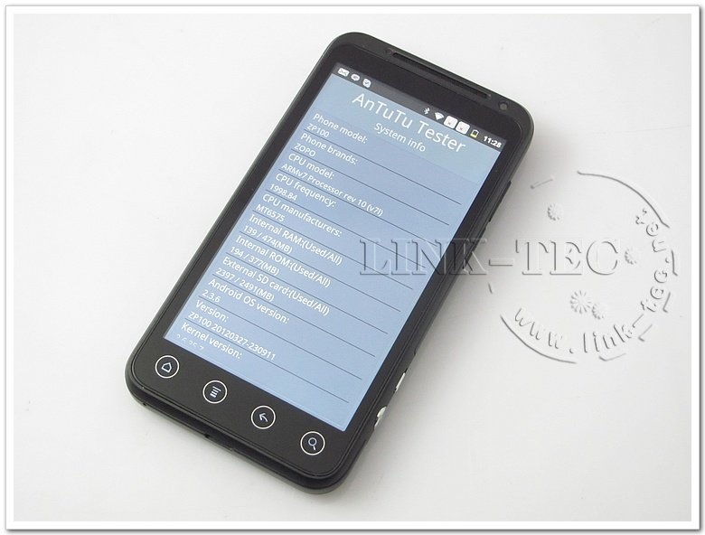 ZOPO ZP100 - смартфон, Android 4.0.3, MTK6575 (1GHz), 4.3