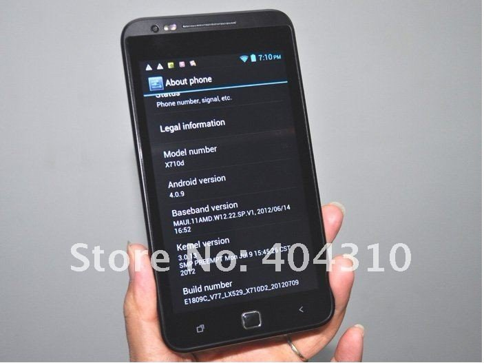 Haipai i9220 - смартфон, Android 4.0.3, MTK6577 (1.2GHz), 5.3