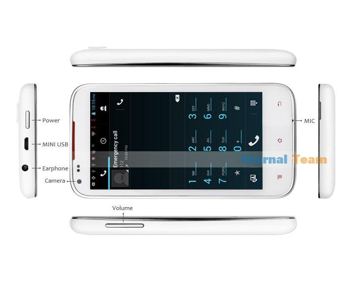Amoi N821 - смартфон, Android 4.2.1, MTK6577 (4x1.2GHz), qHD 4.5