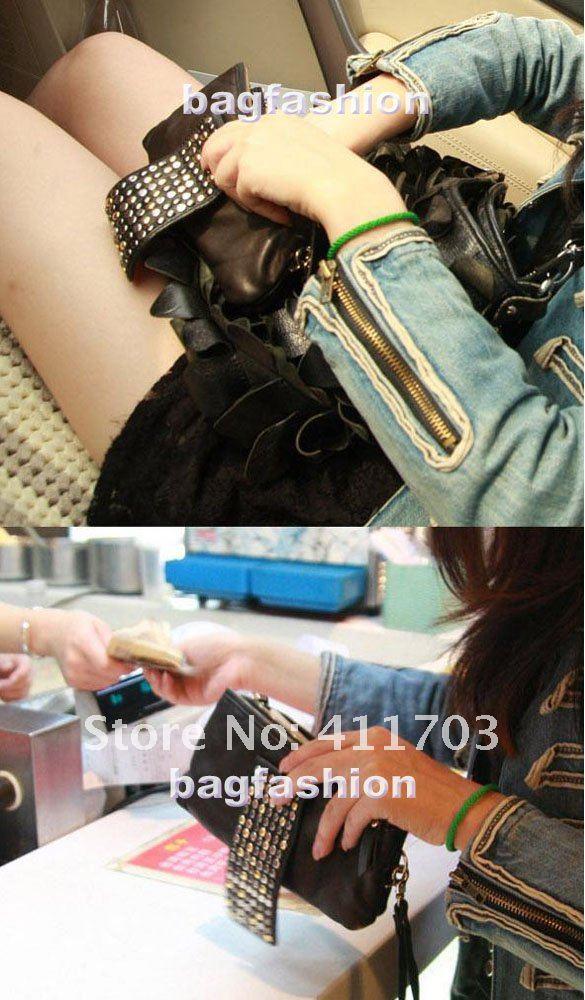 Дамская сумочка с клёпками 4004#