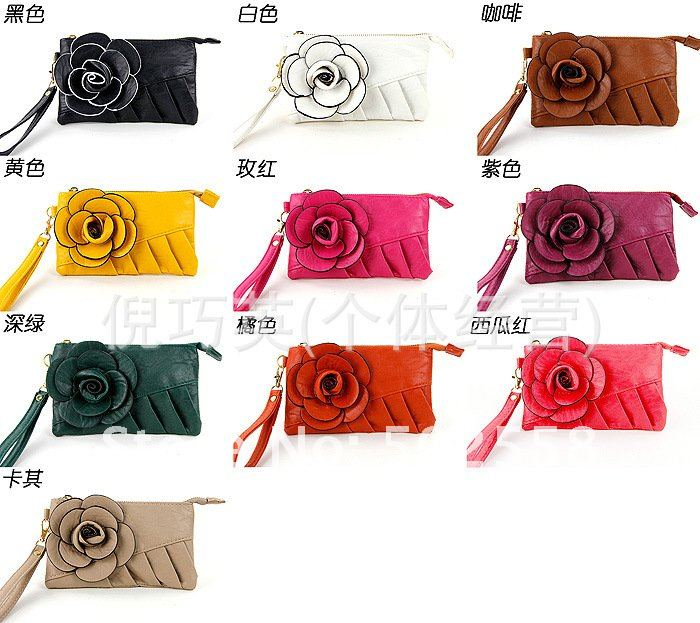 Женская сумка с цветком  D-02