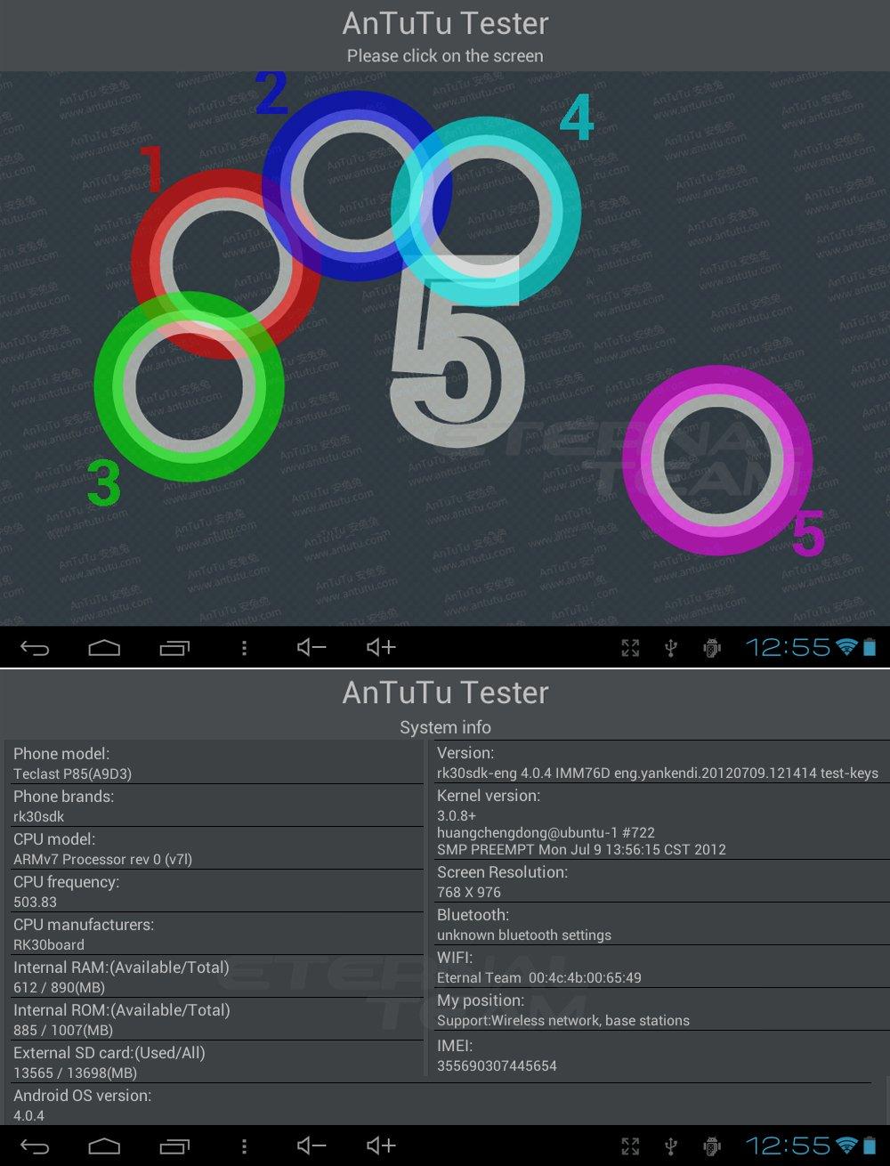 Teclast P85 - планшетный компьютер, Android 4.0.4, 8