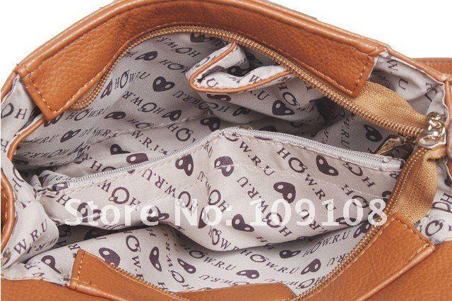 Модная дамская сумка на плечо из полиуретановой кожи в стиле тоте