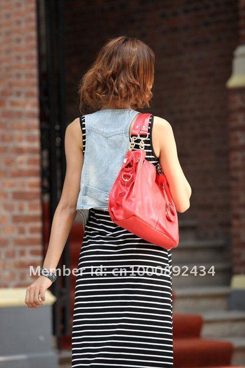 Модные женские сумки с кисточками из натуральной кожи на плечо