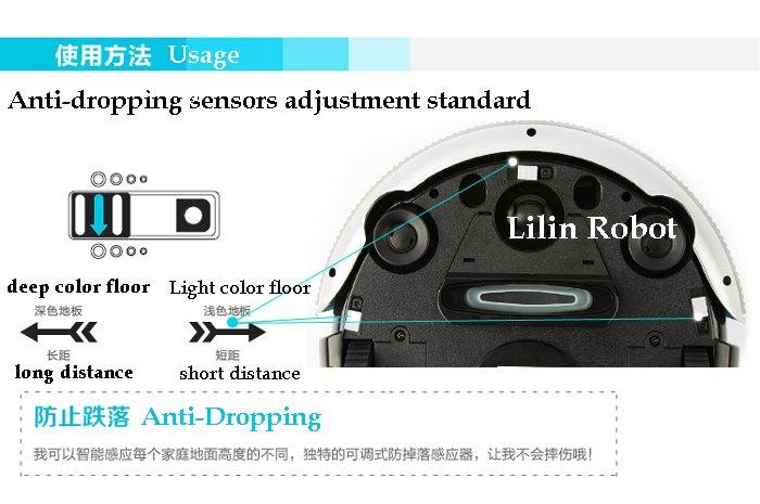 LL-286 - мини робот-пылесос, влажная уборка, боковые щетки, противоударные сенсоры (бирюзовый цвет)