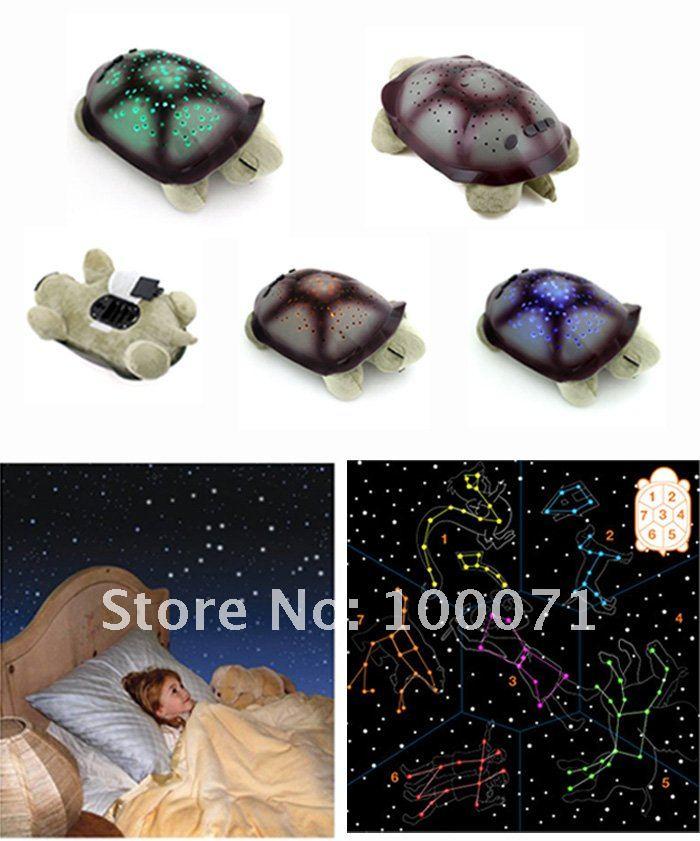 Ночник - черепашка  с имитацией звездного неба