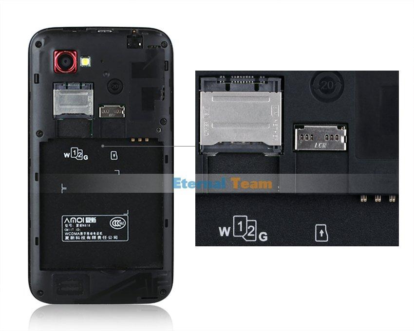 Amoi N818 - смартфон, Android 4.0.4, MTK6577 (2x1.2GHz), qHD 4.5