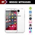 "Changjiang N9502 - смартфон, Android 4.2, MTK6589T, Quad Core 1.2GHz, 5.0"" IPS 720Р, 2 SIM-карты, 1ГБ RAM, 16ГБ ROM, поддержка карт microSD, WCDMA/GSM, Wi-Fi, Bluetooth, GPS, FM-радио, основная камера 12.1МП и фронтальная камера 0.3МП"