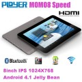 "Ployer MOMO8 - планшетный компьютер, Android 4.1.1, 8"" IPS, Rockchip RK3066 (2x1.6GHz), 1GB RAM, 16GB ROM, Wi-Fi, Bluetooth, HDMI, 0.3MP фронтальная камера"