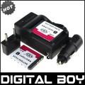 NP-FT1- 2 аккумулятора + зарядное устройство + автомобильное зарядное устройство + штекер для Sony DSC-L1 DSC-M2 DSC-T33