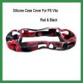 Силиконовый чехол для PS Vita, красный с черным