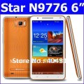 "Star N9776 - смартфон, Android 4.0.4, MTK6577 (1.2GHz), 6"" TFT LCD, 512MB RAM, 4GB ROM, 3G, Wi-Fi, Bluetooth, GPS, FM, 5MP задняя камера, 0.3MP фронтальная камера"