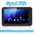 "Gpad F22 - планшетный компьютер/мобильный телефон, Android 4.0.3, TFT LCD 7"", MTK6575 (1GHz), 512MB RAM, 4GB ROM, GSM, 3G, GPS, Bluetooth, Wi-Fi, HDMI, 0.3MP фронтальная камера, 2MP задняя камера"