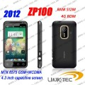 "ZOPO ZP100 - смартфон, Android 4.0.3, MTK6575 (1GHz), 4.3"" TFT LCD, 512MB RAM, 4GB ROM, 3G, Wi-Fi, Bluetooth, GPS, FM, 5MP задняя камера, 0.3MP фронтальная камера"