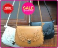 Модные дамские сумки-почтальонки, украшенные  цветами хэнд-мейд, стиль ретро