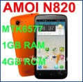 "Amoi N820 - смартфон, Android 4.0.3, MTK6577 (1.2GHz), 4.5"" TFT LCD, 1GB RAM, 4GB ROM, 3G, Wi-Fi, Bluetooth, GPS, 8MP задняя камера"
