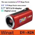 """Winait DV828 - цифровая видеокамера, 2.7"""" TFT LCD дисплей, CMOS-матрица, 4x цифровой зум"""