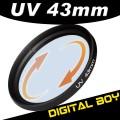 УФ фильтр 43 мм для Canon; Nikon; Sony; Olympus