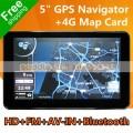 """SD-G501 - Автомобильный GPS навигатор, 5"""" 800*480, Bluetooth, AV-IN, FM, 4GB"""