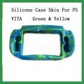 Силиконовый чехол для PS Vita, зеленый с желтым